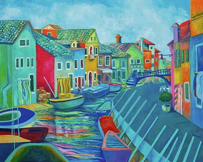 Boats At Burano Art Print