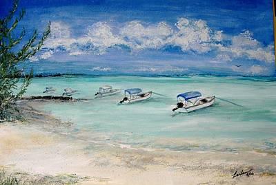 Boston Harbor Islands Painting - Boats At Current Cut by Barbara Babz Dalton