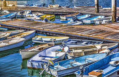 Digital Art - Boats At Dock by Photographic Art by Russel Ray Photos
