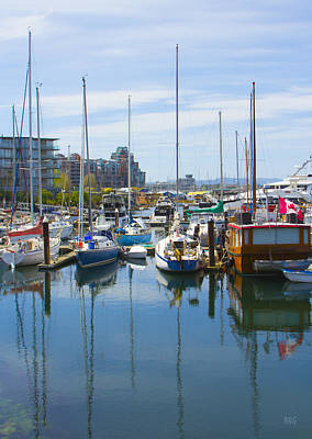 Photograph - Boats At Fisherman's Wharf Marina Victoria British Columbia by Ben and Raisa Gertsberg