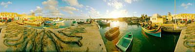 Boats At Harbor, Malta Print by Panoramic Images