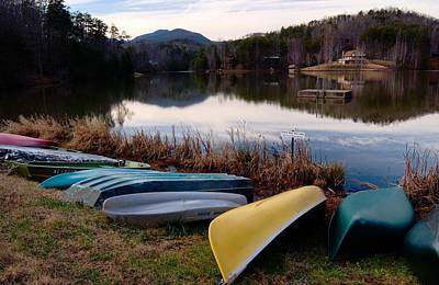 Photograph - Boats At Lake Lure Nc by Bob Pardue