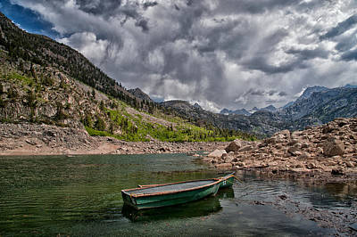 Boats At Lake Sabrina Art Print by Cat Connor