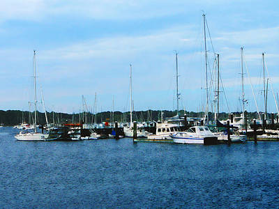 Art Print featuring the photograph Boats At Newport Ri by Susan Savad