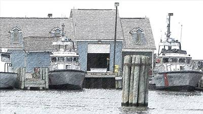 Fishing Boat Photograph - Boats At Oregon Inlet Fishing Center by Cathy Lindsey