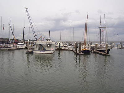 Augustine Photograph - Boats At St. Augustine Harbor  by Cathy Lindsey