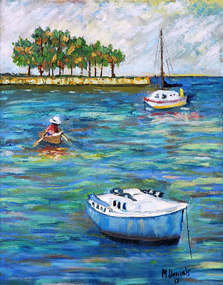 Impressionistic Sailboats Painting - Boats At St Petersburg by Michael Daniels