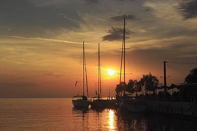 Nighttime Street Photography - Boats at Sunset Skala Marion Thassos Greece by Ivan Pendjakov