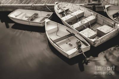 Boats At The Dock Art Print
