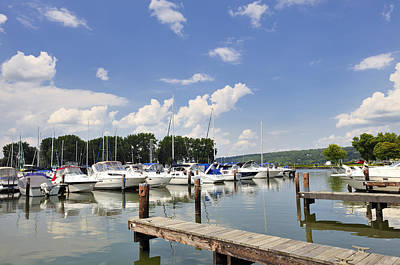 Photograph - Boats At Treman State Park Ithaca Ny by Marianne Campolongo