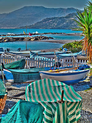 Photograph - Boats At Ventimiglia by Karen Lewis
