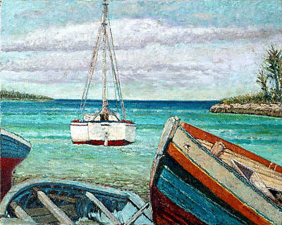 Painting - Boats By The Bay by Ritchie Eyma