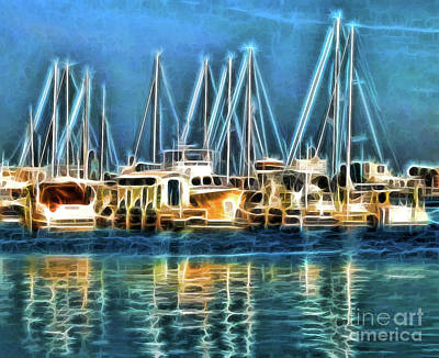 Boats Art Print by Clare VanderVeen