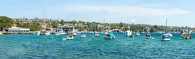 Watson Photograph - Boats Docked At Watsons Bay, Sydney by Panoramic Images