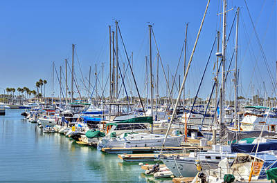 Photograph - Boats Docked In Marina by David Zanzinger