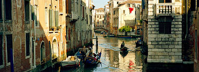 Castello Photograph - Boats In A Canal, Castello, Venice by Panoramic Images