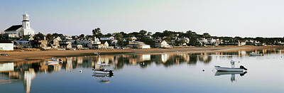 Barnstable Photograph - Boats In An Ocean, Cape Cod, Barnstable by Panoramic Images
