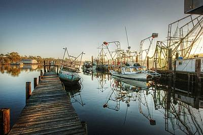 Boats In Billy's Harbor Original by Michael Thomas