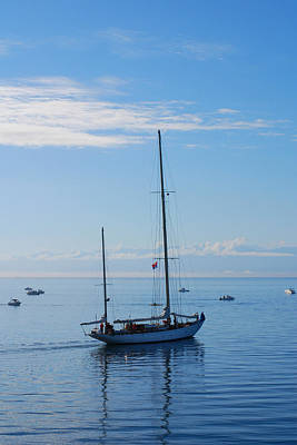 Photograph - Boats In Blue by Connie Fox