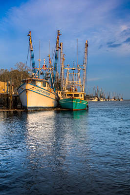 Lady Ga Ga Photograph - Boats In Blue by Debra and Dave Vanderlaan