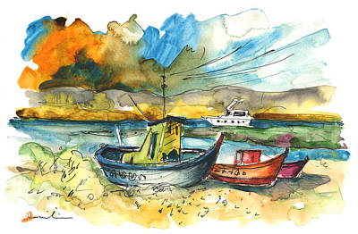 Portugal Art Painting - Boats In Carrasqueira In Portugal 01 by Miki De Goodaboom