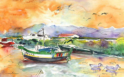 Portugal Art Painting - Boats In Carrasqueira In Portugal 03 by Miki De Goodaboom