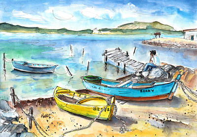 Boats In Gruissan Art Print by Miki De Goodaboom