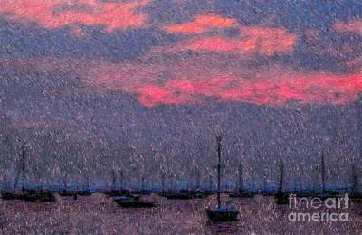 Boats In Harbor Print by Jeff Breiman