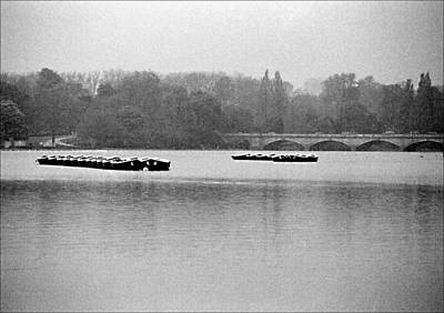 Boats In Hyde Park Original by David Epstein