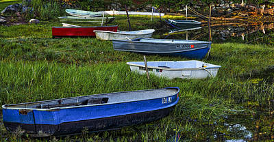 Photograph - Boats In Marsh - Cape Neddick - Maine by Steven Ralser