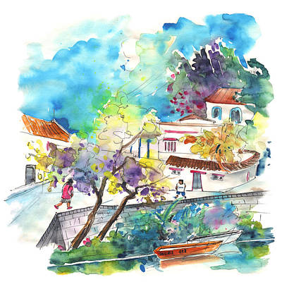 Portugal Art Painting - Boats In Odemira In Portugal by Miki De Goodaboom