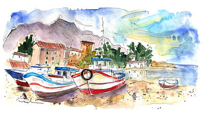 Painting - Boats In Porticello 02 by Miki De Goodaboom