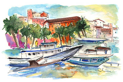 Sicily Painting - Boats In Porticello 03 by Miki De Goodaboom