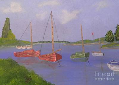 Painting - Boats In The Bay by Tanja Beaver