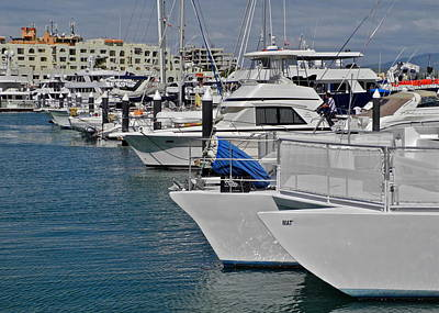 Photograph - Boats In The Cabo San Lucas Marina by Kirsten Giving