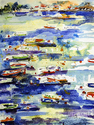 Painting - Boats In The Cinque Terre by Ginette Callaway