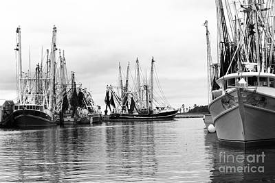 Boats In The Harbor Art Print by Robert Yaeger