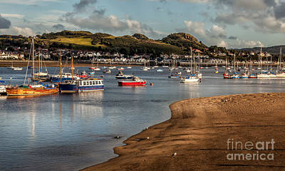 Boats In The Harbour Art Print by Adrian Evans