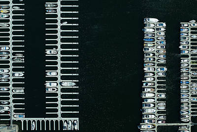 Tranquility Photograph - Boats In The Harbour by Michael H