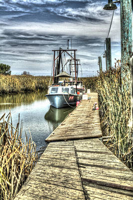 Photograph - Boats In The Marsh 2 by SC Heffner