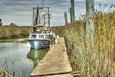 Photograph - Boats In The Marsh by SC Heffner