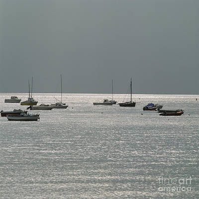 Boats In The Sea. Normandy. France. Europe Art Print