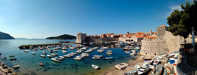 Boats In The Sea, Old City, Dubrovnik Art Print by Panoramic Images