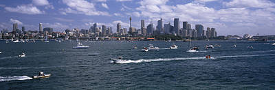 Sydney Vacation Photograph - Boats In The Sea, Sydney Harbor by Panoramic Images