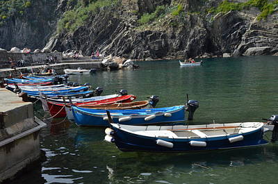 Photograph - Boats In Vernazza by Dany Lison