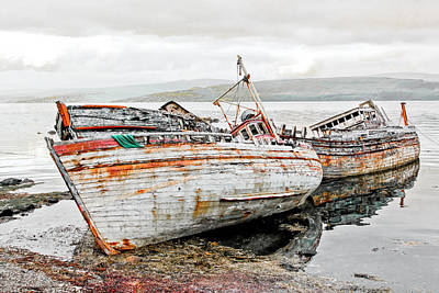 Photograph - Boats Isle Of Mull 3 by Tom and Pat Cory