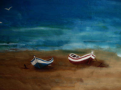 Painting - Boats by Ivan Gomez