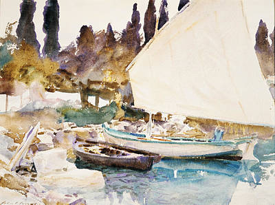 Painting - Boats by John Singer Sargent