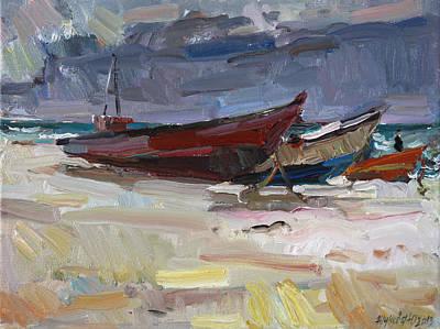 Painting - Boats by Juliya Zhukova