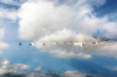 Ambleside Wall Art - Photograph - Boats Moored On Lake Windermere by Rory Mcdonald